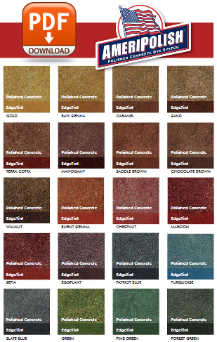 Polished Concrete Color Chart